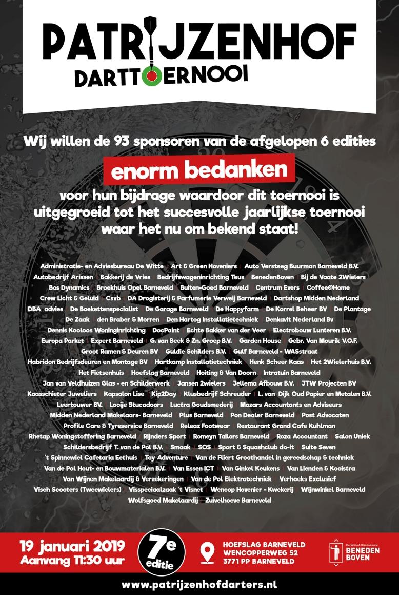 Poster bedankadvertentie