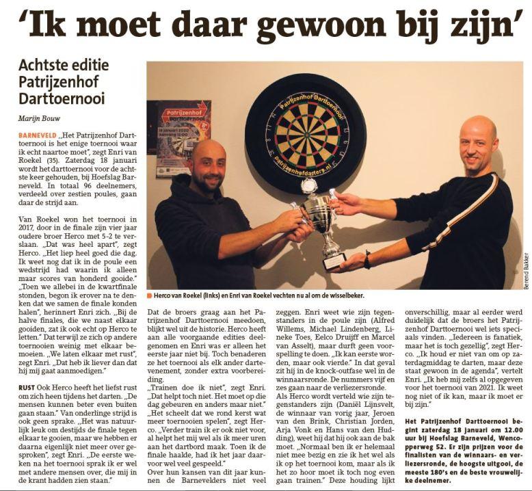 Interview Broertjes Van Roekel 16-01-2020